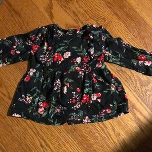 floral long sleeve top 0-3mo.